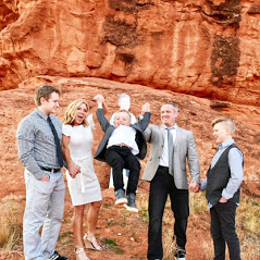 South Jordan Chiropractor - Matthew D. Smith DC, Family photo in Red Rock Canyon